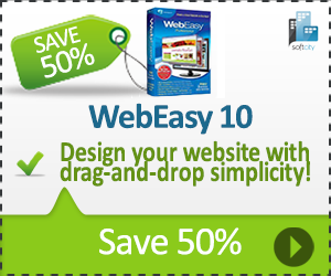 50% off WebEasy Professional 10 - download now and save!